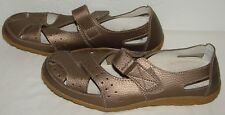 Spring Step Womens Streetwise Bronze Leather Sandals Size 41 M US 9.5 10