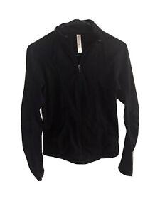 Women's kyodan black athletic jacket size small Tiger Print Mesh Gym Running