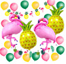 1 Set Hawaiian Beach Party Tropical Pineapple Flamingo Summer Supplies Decor