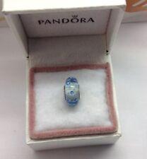 "Pandora "" Ice Drops "" Effervescence S925ale Murano Glass Charm # 796365CZB"