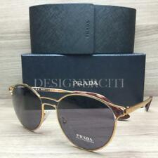 Prada SPR62S Sunglasses Yellow Gold Havana 7OE-6O2 Authentic 53mm