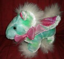 Dan Dee PEGASUS Blue Green Soft Plush Pink Glittery Wings Inner Ears Foot Pads