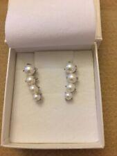 Bella Pearls 925 Silver Freshwater Pearl Graduated Ear Climbers BNWT