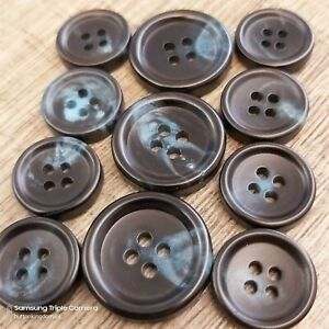 button for costume 616 mm horn button 6-8 mm thick jacket button knob for knitting
