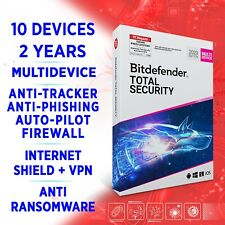 Bitdefender Total Security 2021 Multidevice 10 Geräte 2 Jahre VOLLVERSION + VPN