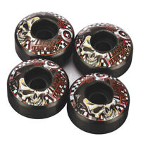 Black Skateboard Wheels 52mm 4 Pack Free shipping Road Skating Wheels