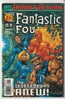 """Fantastic Four Vol 3 #1 Marvel Comics 1998 """"Heroes Return"""""""