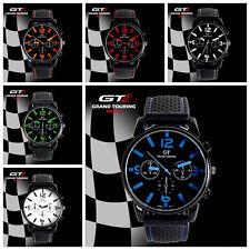 Sports F1 GT Touring Racing Mens Boys Wrist Watch Analog Quartz Silicon Strap UK