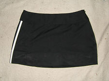 Adidas Climacool Black w/ White Stripes Mini Skirt Skort Polyester - Wms sz 0