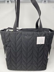 NWT $399 Kate Spade Ellie Black Quilted Baby Bag with Changing Pad Diaper Bag