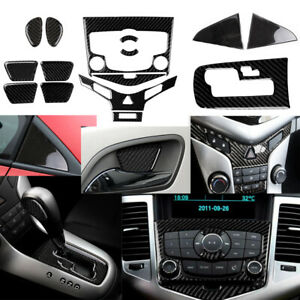 For Chevrolet Cruze Carbon Fiber Interior Accessories Whole Kit Cover 2009-2015