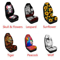 Universal Front Car Seat Covers 3D Print Multi Pattern Covers Protector  *