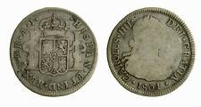 s281_11) SPAIN 2 REALES CARLOS IV. 1801. SANTIAGO DE CHILE. A.J