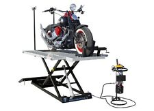 1500 lbs. XLT Electric/Hydraulic Motorcycle Lift w/ Front & Side Extensions