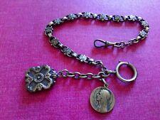 Chaîne Montre Gousset Argent Massif Silver Pocket Watch Chain