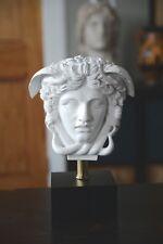 "Versace Logo Medusa Bust Head Greek Roman Sculpture 11"" Replica Reproduction"