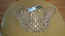 SHANNON  DESIGNS OF IRELAND 24% LEAD CRYSTAL BOWL MADE IN SLOVAKIA