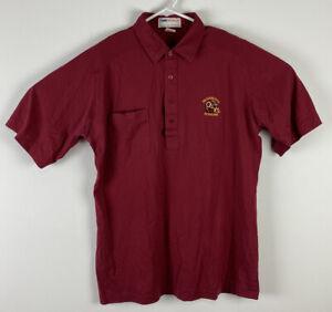 VTG Men NFL Pro Shop Antigua Washington Redskins red cotton polo shirt, sz L