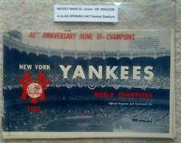 1963 Mickey MANTLE HR #406/536 OPENING Day Vintage Baseball Program NY Yankees 1