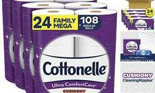 Ultra ComfortCare Toilet Paper with Cushiony 24 Family Mega Rolls