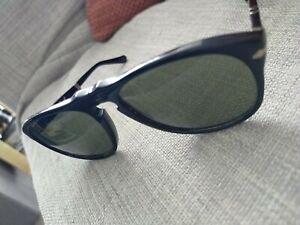 Persol Sunglasses PO0714 95/31 Black Green Folding 52mm