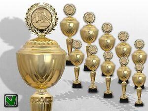 GROSSE XXL 10er Pokalserie GOLDEN SUPREME Pokale gold günstig kaufen