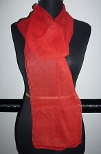 Damen Mädchen Herren Netz Schal Tuch Stola rot transparent 164 x 20 cm - NEU