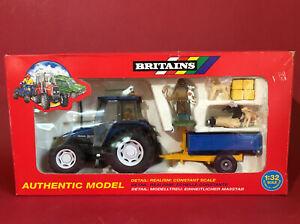 1995- Britains 1/32 New Holland 6635 Tractor & Trailer Set No3054 MIB