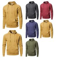 FashionOutfit Men Mineral Washed Raglan Long Sleeve French Terry Pullover Hoodie