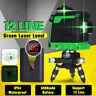 3D 12 Lines Green Laser Level Self Leveling 360° Measuring + LCD Li-ion Battery