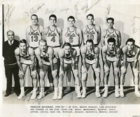 Danny Daniel Biasone & 1949-50 Syracuse Nationals Basketball Team Signed Photo