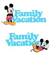 Disney Vacation Title Die Cut - Mickey Mouse Vacation Title Die Cut - Page Title