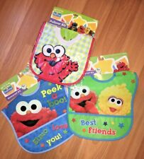 Cute Sesame Street 3 pc Bib Set *Great Baby Shower Gift*