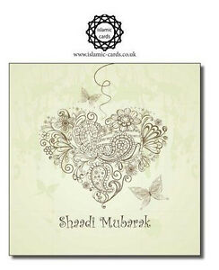Vintage Butterflies Shaadi Mubarak - WWC029 Greeting Cards *BUY 1 GET 1 FREE*