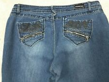 Dereon-Youth/Woman Plus Size 20W~Blue Embellished Stud Skinny Jeans.
