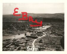 WWII 5x7 AERIAL RECON PHOTO LOT OF 8TH USAAF OVER KOBLENZ GERMANY DESTRUCTION