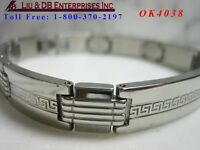"1 New High Quality Men's Stainless Steel Bracelet ,L 8 1/4"", W 3/8"" OK4038"