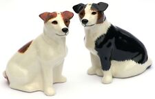 Jack Russell Salt And Pepper Cruet By Quail Pottery Terrier Hunting Hound Gift