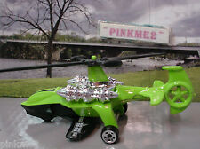 2009 RESCUE RODS Design Ex SKY KNIFE∞GREEN copter; HW 911∞LOOSE Hot Wheels