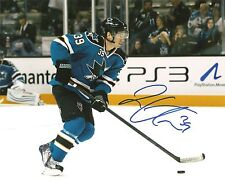 "Logan Couture SHARKS Signed Auto 8x10 PHOTO COA ""PROOF"""