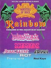Rainbow-The very 1st  Monster Of Rock,Donington Park UK,Aug..16th 1980 poster