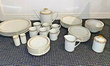 Vintage Arzberg (Germany) Larissa dinner set - with gold rim - 39 pieces
