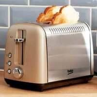 Beko 2 Slice/Piece Stylish Modern toaster in Champagne
