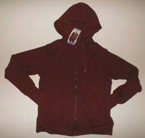 DANSKIN Womens Hoodie Burgundy Full Zip Sweatshirt Jacket Size XXL NWT