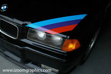 BMW M3 Motorsport Three Color Stripe Decal E30 E36 E46 - Original and Correct