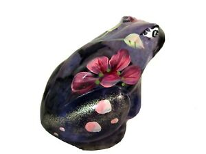 "Fenton Glass 3 1/2"" Violet Handpainted Frog, New"
