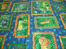 Vintage - Safari Print Fabric - 1.5 Yards