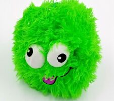 """FuzzBies Zanie green fuzzy 8"""" ball furry Imperial blow up ball"""