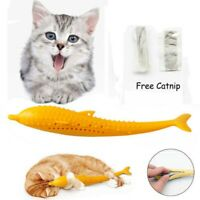 Cat Self-Cleaning Teeth Toothbrush Catnip Fish Chew Toys Cat Dental Clean Toy