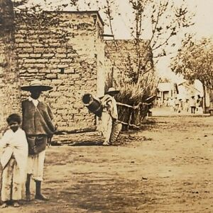 Indian Village Mexico Mexican Adobe Homes Street Scene Photo House Stereoview